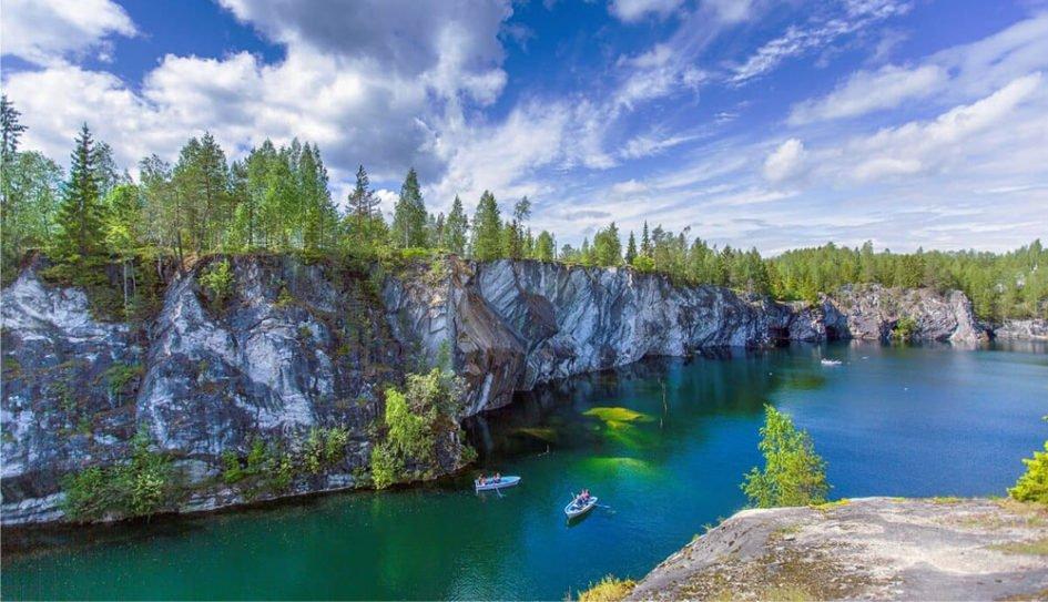 Горный парк Рускеала, республика Карелия
