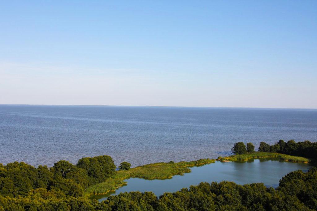 Озеро Лебедь, Куршская коса
