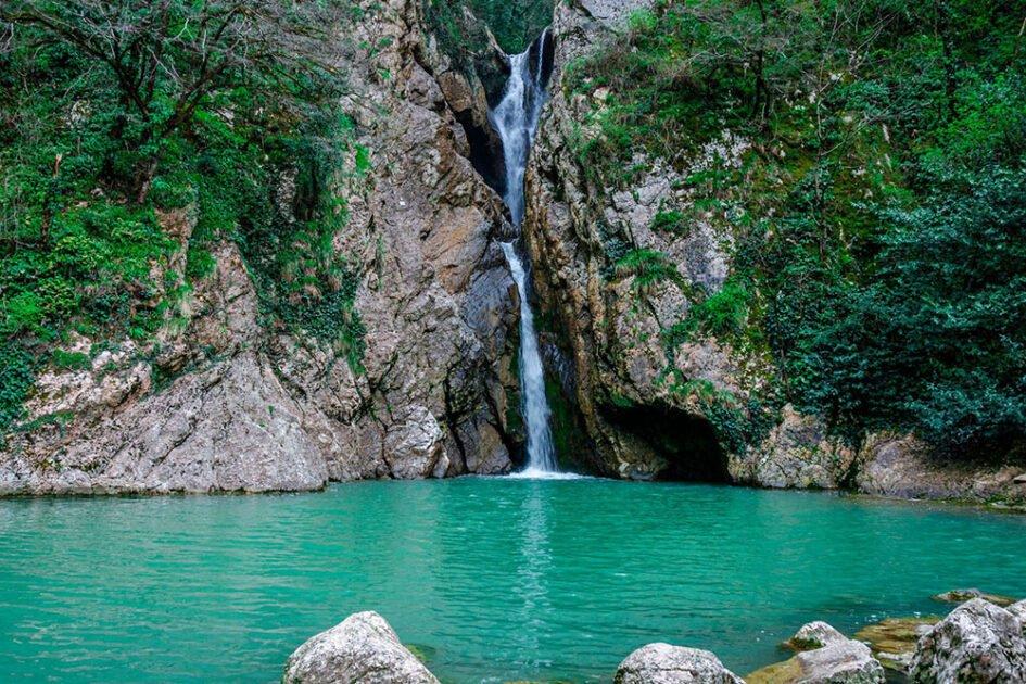 Агурские водопады, Сочи