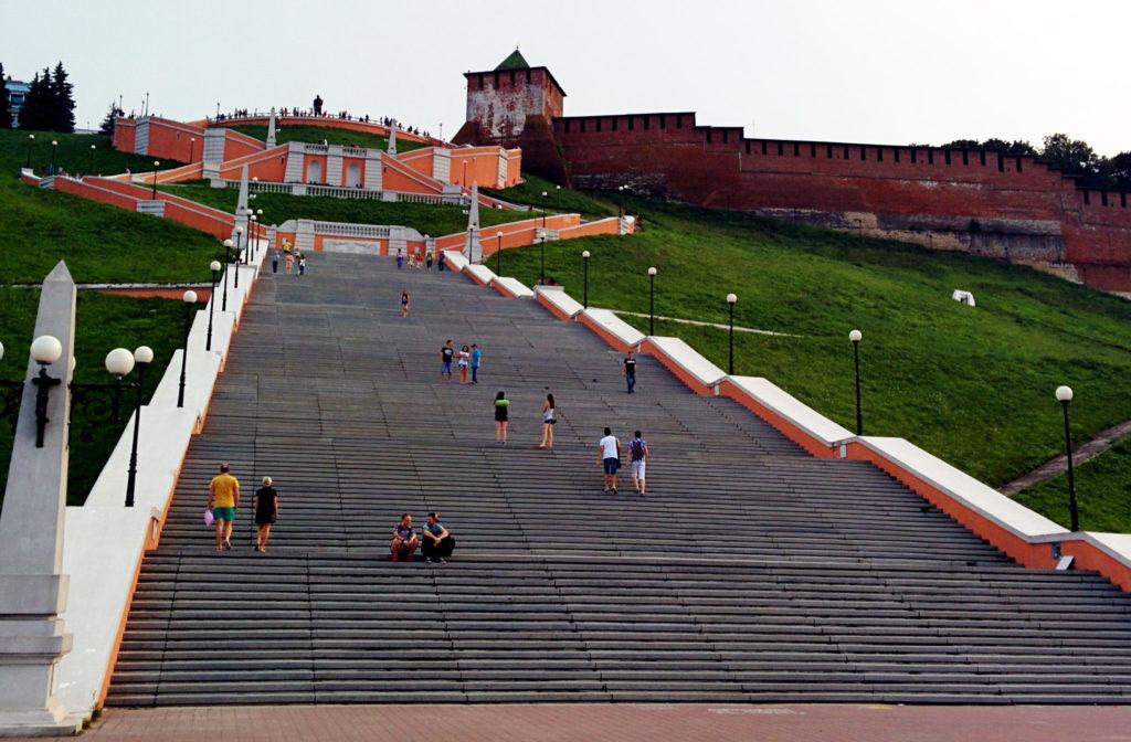 Чкаловская лестница, Нижегородский кремль, Нижегородская область