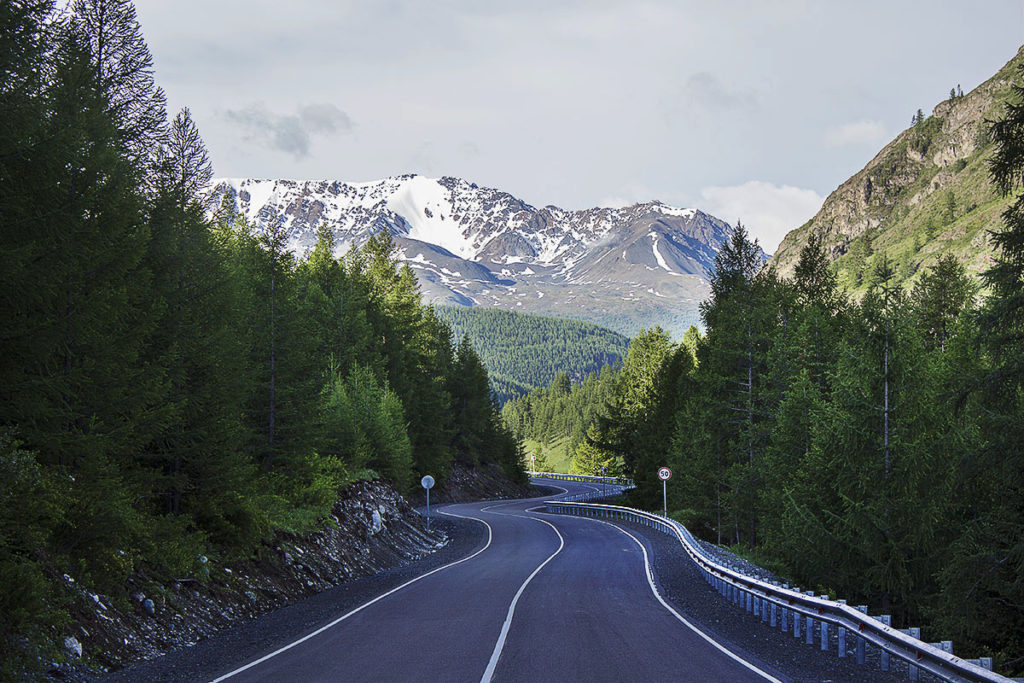 Дорога, горный Алтай