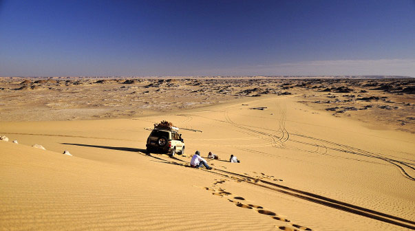 Туристы в пустыне