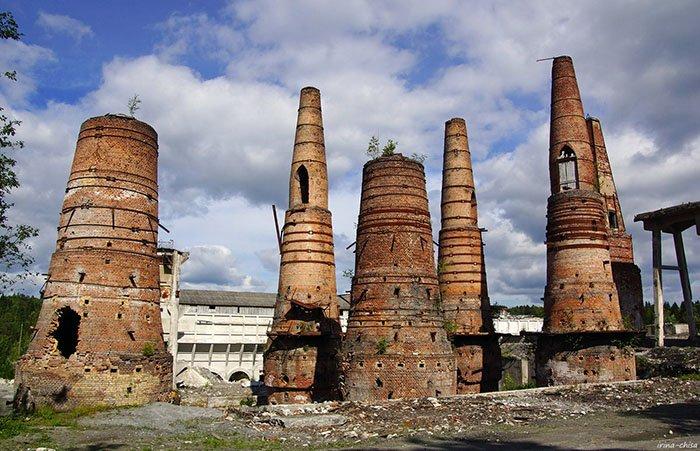 Руины мраморного завода, Рускеала, Карелия
