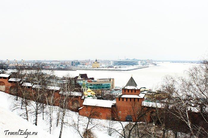 Кремлёвская стена, Волга, Стрелка в Нижнем Новгороде