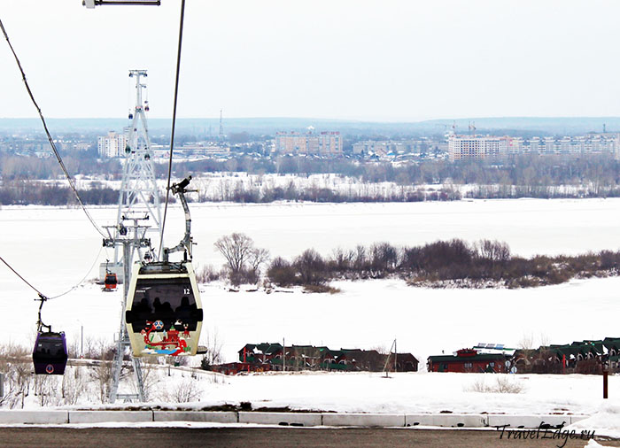 Канатная дорога через Волгу, Нижний Новгород