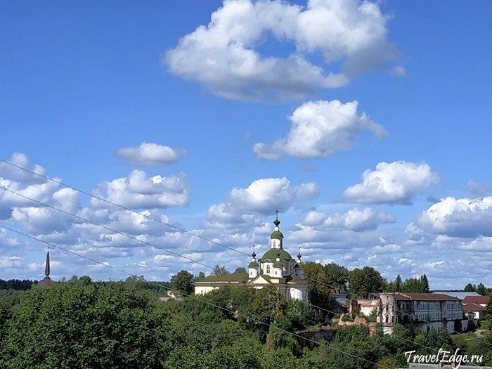 Вид на Спасо-Суморин монастырь, Город Тотьма, Вологодская область