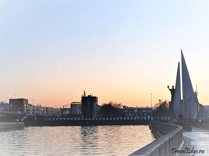 Набережная около старого порта, Калининград