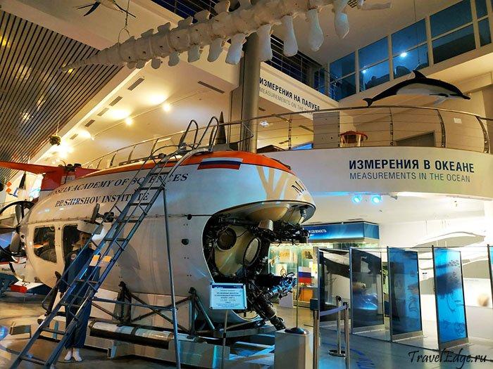 Внутренняя экспозиция Музея Мирового океана, Калининград