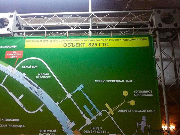 Схема Объекта 825 ГТС при входе в Музей