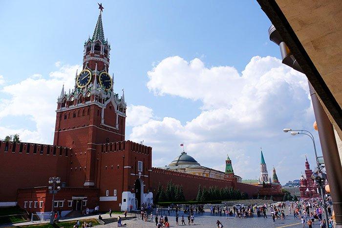 Спасская башня, Красная площадь, Москва