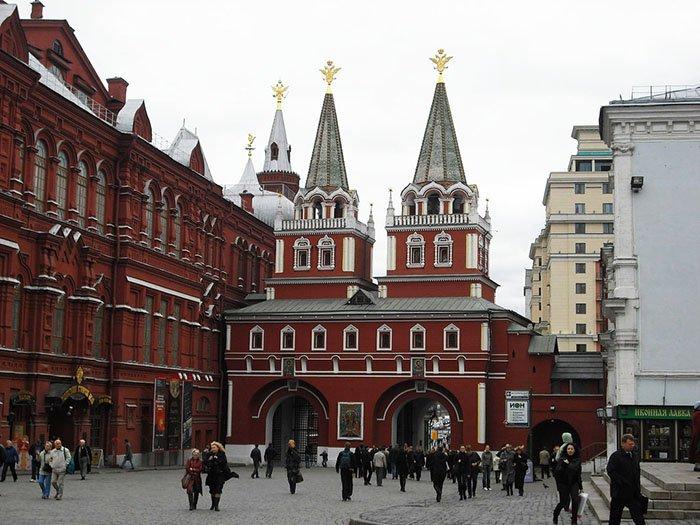 Иверская часовня, Воскресенские ворота, Красная площадь, Москва
