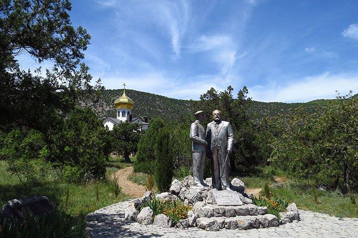 Памятник Голицыну и Николаю II, Новый Свет, республика Крым