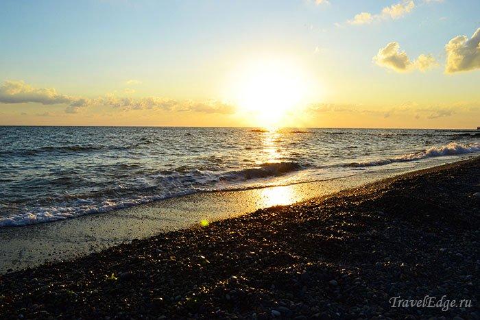 Закат на море, Сочи