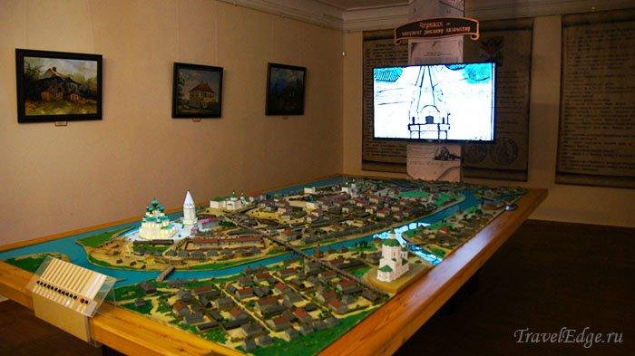 Интерактивный макет станицы Старочеркасская в одном из залов музея, Старочеркасск, Ростовская область