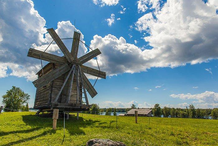 Кижская ветряная мельница, Кижи, Карелия