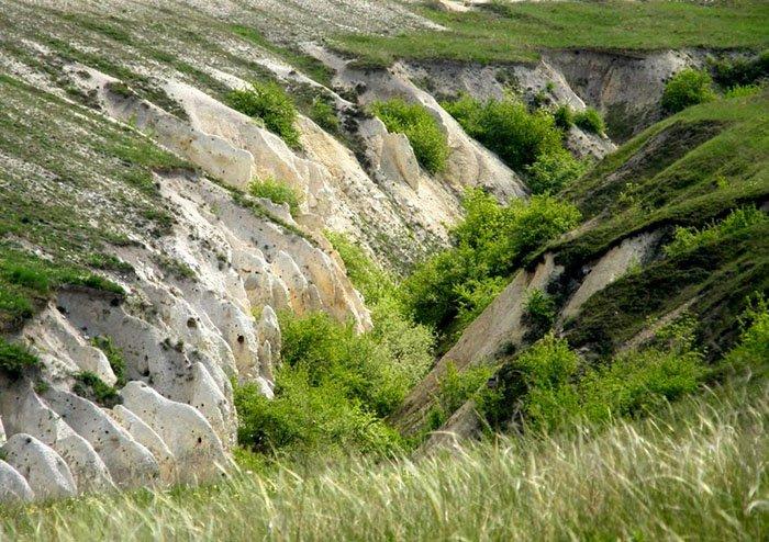 Меловой каньон, плато Дивногорье, Воронежская область