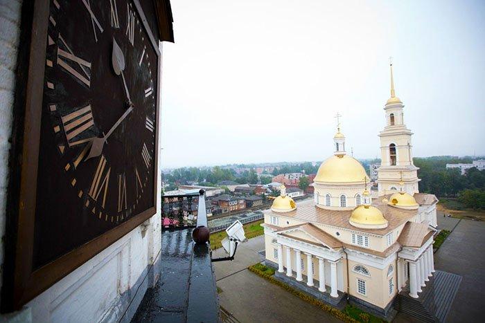 Вид с башни на Спасо-Преображенский собор, Свердловская область