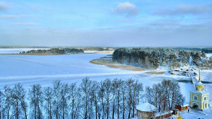 Озеро Селигер. Зима