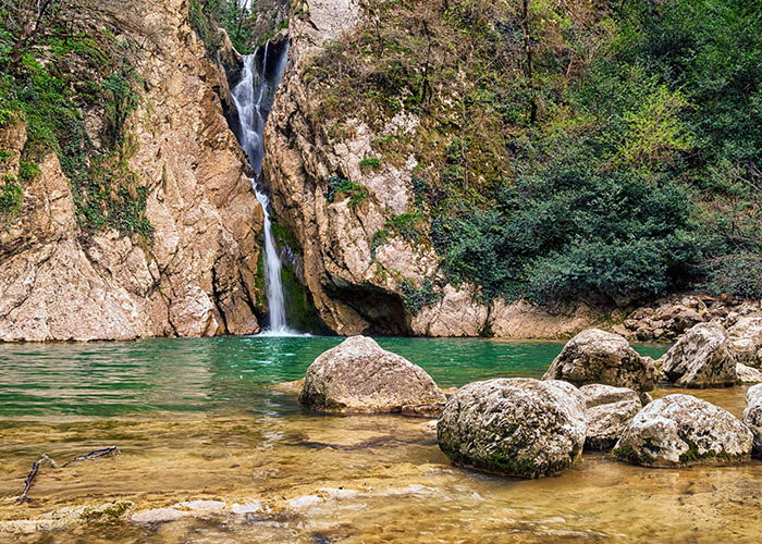 Нижний Агурский водопад, Сочи