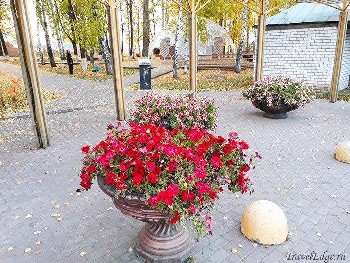 Парк напротив Музея рыболовства, Тетюши, Республика Татарстан