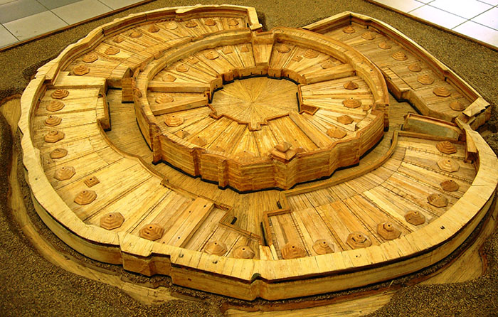 Макет древнего городища, Аркаим, Челябинская область