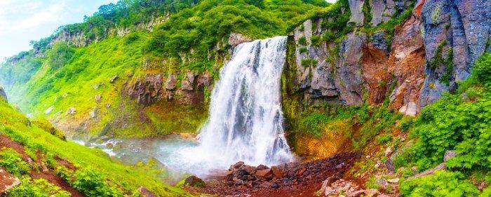 Водопад Вероникины косы, Камчатка
