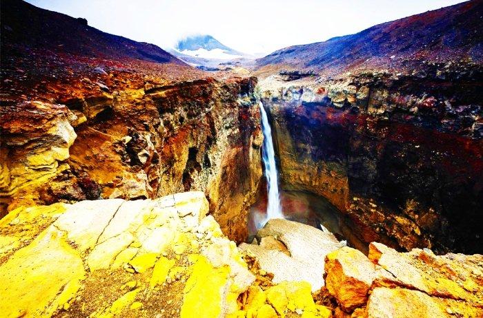 Водопад Опасный (Мутновский), Камчатка