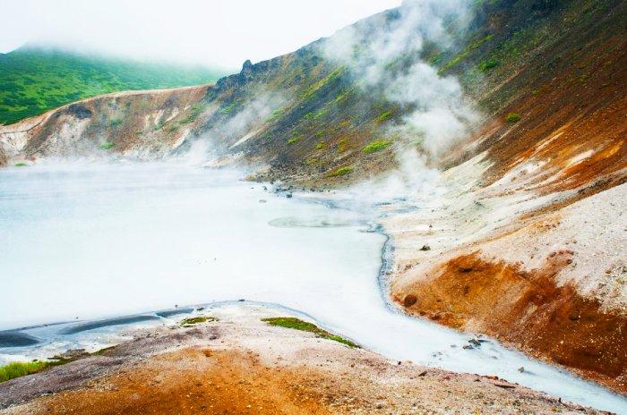 Кипящее озеро, Курилы