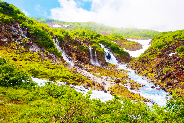 Минеральные источники «Белые водопады», Камчатка