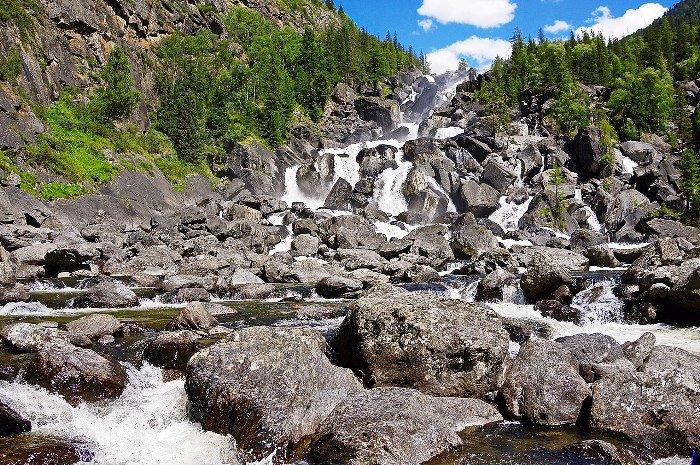 Водопад Учар. Алтайский заповедник