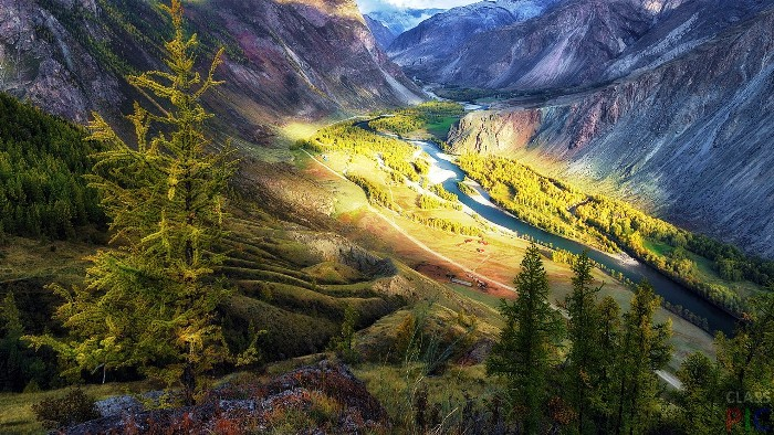 Долина реки Чулышман. Алтайский заповедник