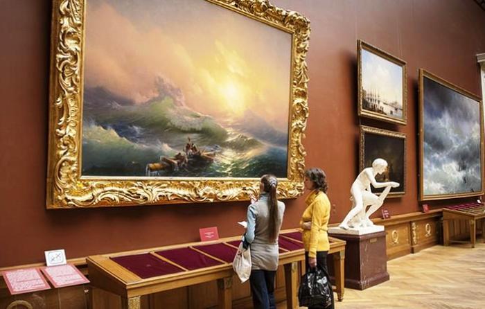 Третьяковская галерея, выставка Айвазовского