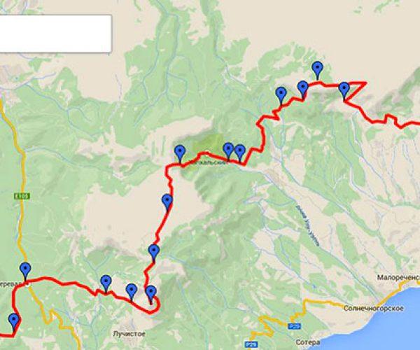 Туристический маршрут по Крыму